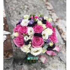 Букет невесты из Эустомы и Розы №38
