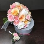 Букет невесты из пионовидных Роз №35