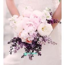 Букет невесты из Пионов и Роз №48