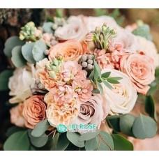 Кремовый букет невесты №50