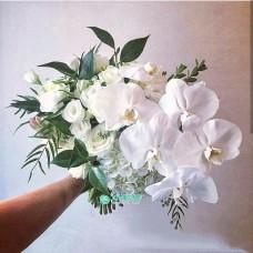 Букет невесты с белыми Орхидеями №53