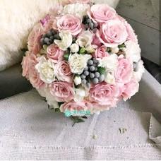 Букет невесты из розовых Роз №54