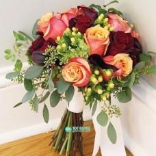 "Букет невесты ""Каллы и Розы"" №74"