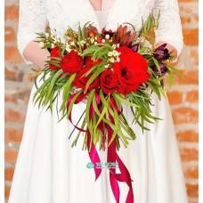 Букет невесты из Гвоздик и  Роз №76
