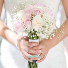 """Букет невесты """"Розы и Гипсофила"""" №78"""