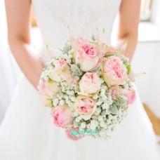 Букет невесты с Гипсофилой №79