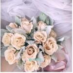 Букет невесты из кремовых Роз№1106