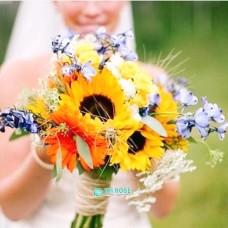 Букет невесты из Подсолнухов №81