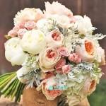 Букет невесты из Пионов и Роз №82