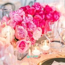 Оформление стола гостей в розовом цвете
