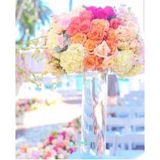 Цветочная композиция в высокой вазе №2