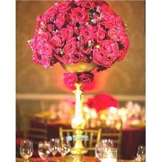 Цветочная композиция в высокой вазе №3