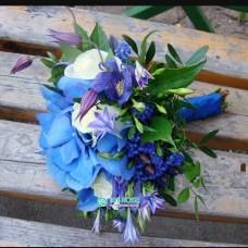 Синий букет невесты №91