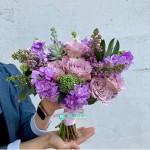 Букет невесты фиолетовый №93
