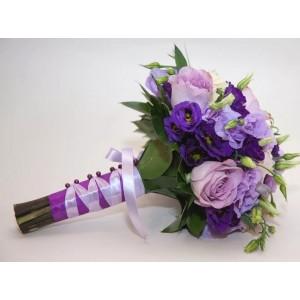 Букет невесты фиолетовый №31