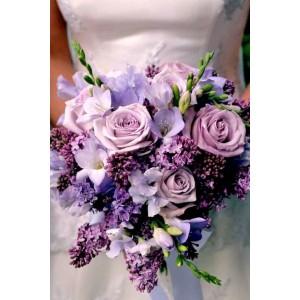 Букет невесты сиреневый №46