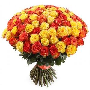 "101 Роза ""Золотистая рожь"" (Эквадор)"