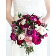Букет невесты из Пионов и Роз №33