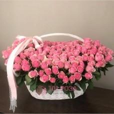 "151 Роза в корзине ""Бэлла"""