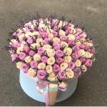 151 Роза с Лавандой в коробке