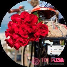 Наша компания осуществляет доставку роз по Москве и Московской области
